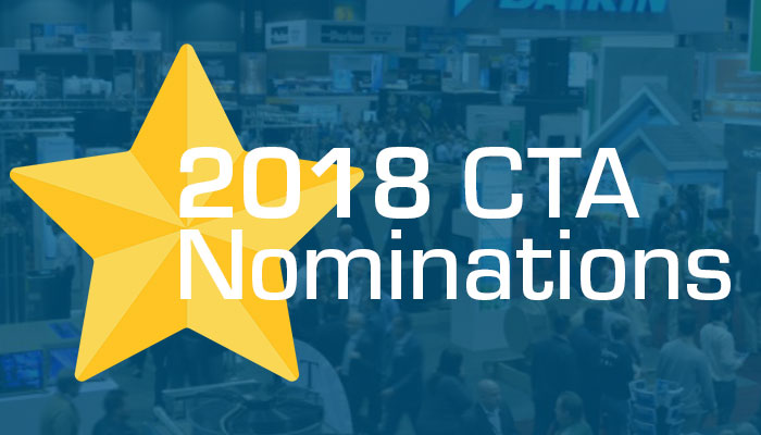 ControlTrends Awards nomination 2018 CTA AHR Expo 2019